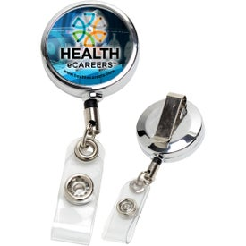 """30"""" Cord Metal Retractable Badge Holder (Full Color)"""