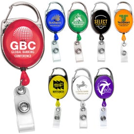 Retractable Carabiner Style Badge Reel and Badge Holders