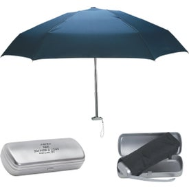"38"" Arc Folding Umbrella with Contemporary Design Case"