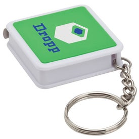 3 Ft. Metal Tape Measure Keyring with Your Slogan