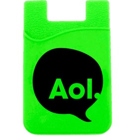 Printed 3M Silicon Smart Wallet Cell Phone Card Holder