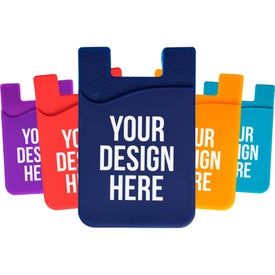 3M Silicon Smart Wallet Cell Phone Card Holder with Your Slogan