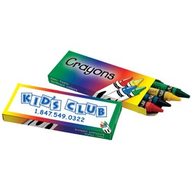 4 Pack Crayons Imprinted with Your Logo