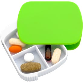 4-Section Pill Holder With Slide-Out Tray for Marketing