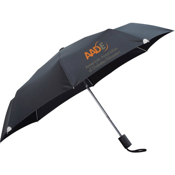 Black Auto Open/Close Windproof Safety Umbrella