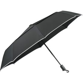 "Logo 42"" Balmain Runway Auto Folding Umbrella"