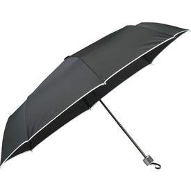 "Imprinted 42"" Balmain Runway Folding Umbrella"