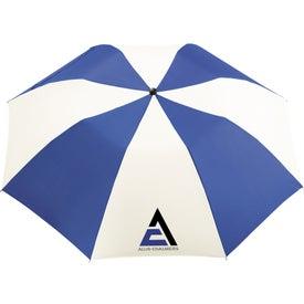 """Logo 42"""" Miami Auto Folding Umbrella"""