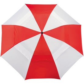"Branded 42"" Vented Windproof Slim Stick Umbrella"