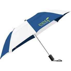 "42"" Vented Windproof Slim Stick Umbrella with Your Slogan"