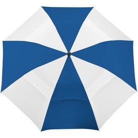 "42"" Vented Windproof Slim Stick Umbrella Printed with Your Logo"