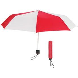 "Logo 43"" Arc Super-mini Telescopic Folding Umbrella"
