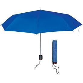 "Branded 43"" Arc Super-mini Telescopic Folding Umbrella"
