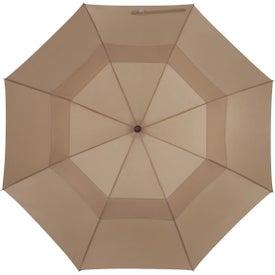 "44"" Arc Telescopic Folding Wood Handle Umbrella for Your Company"