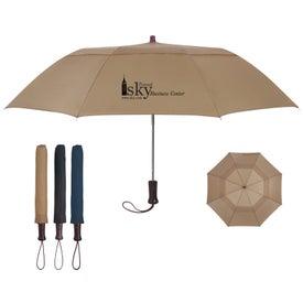 "Advertising 44"" Arc Telescopic Folding Wood Handle Umbrella"