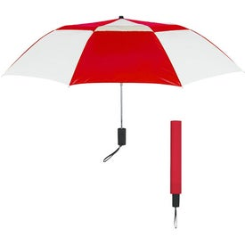 "44"" Arc Telescopic Folding Vented Umbrella with Your Logo"