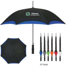 """46"""" Arc Accent Umbrella Printed with Your Logo"""