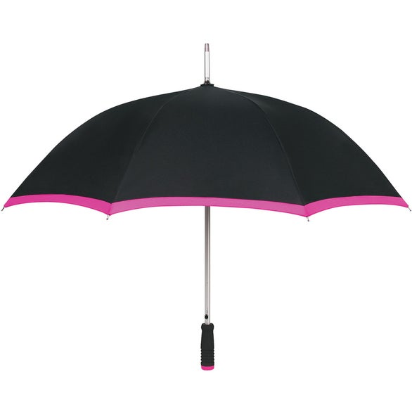 Black / Fuchsia Edge Two Tone Umbrella