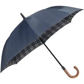 "Logo 48"" Arc Highlander Stick Umbrella"