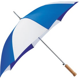 "Logo 48"" Nola Steel Fashion Umbrella"
