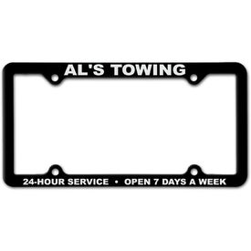 Company 4 Hole Thin Panel License Plate Frame