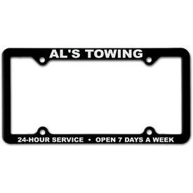 Company 4 Hole Thin Panel License Plate Frame
