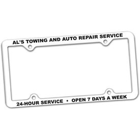 Printed 4 Hole Thin Panel License Plate Frame