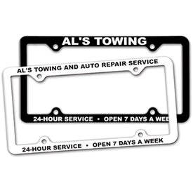 4 Hole Thin Panel License Plate Frame