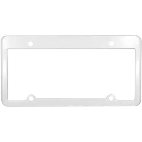 white 4 holes license plate frame - White License Plate Frame