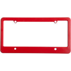 4 Holes with Straight Bottom License Plate Imprinted with Your Logo
