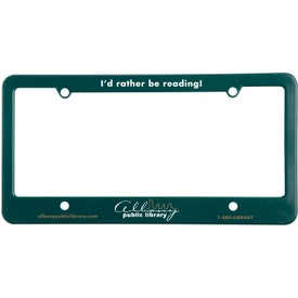 4 Holes with Straight Bottom License Plate Giveaways
