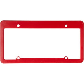 4 Holes with Straight Top License Plate Imprinted with Your Logo