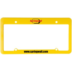 4 Holes with Straight Top License Plate with Your Logo