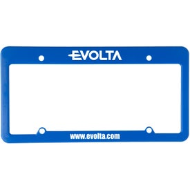 4 Holes with Straight Top License Plate Printed with Your Logo