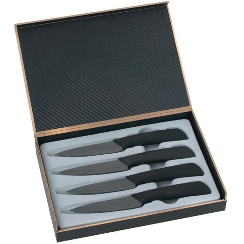 4 Pc Ceramic Steak Knife Set