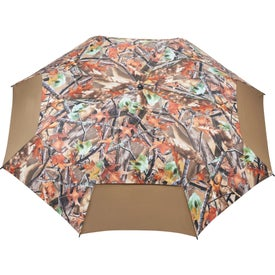 "58"" Hunt Valley Vented Folding Umbrella with Your Slogan"