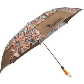 "Branded 58"" Hunt Valley Vented Folding Umbrella"