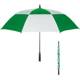 "Customized 58"" Arc Vented Windproof Umbrella"