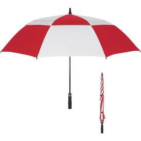 "Branded 58"" Arc Vented Windproof Umbrella"
