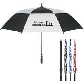 "58"" Arc Vented Windproof Umbrella for Your Organization"