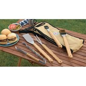 Customized 5 Piece Bamboo BBQ Set