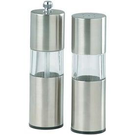 "Custom 5"" Stainless Steel/Acrylic Grinder/Salt Shaker"