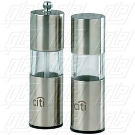 "5"" Stainless Steel/Acrylic Grinder/Salt Shaker"