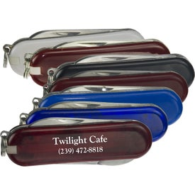 6 Function Pocket Knife Printed with Your Logo