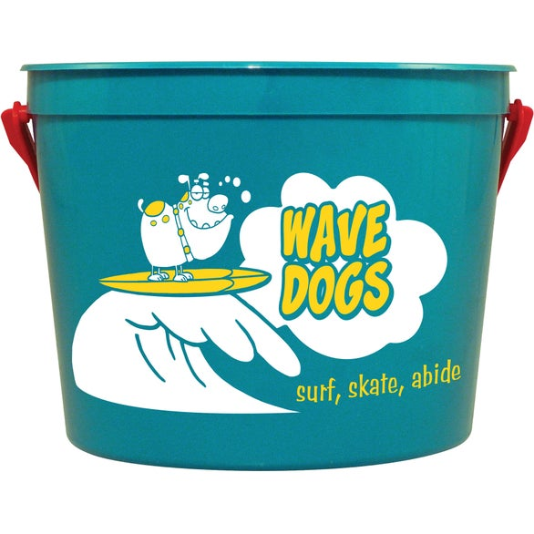 Teal Sand Pail with Handle