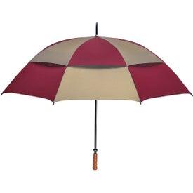 "Customized 68"" Arc Vented, Windproof Umbrella"