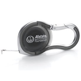 6 FT. Silver Carabiner Tape Measure Giveaways