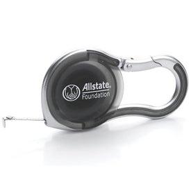 6 FT. Silver Carabiner Tape Measure Giveaways