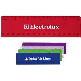 "Beveled Plastic Ruler (6"")"