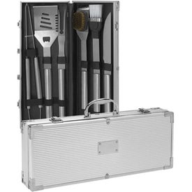 Promotional 6-Piece Barbeque Set - Stainless Steel